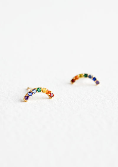 Rainbow Arc Stud Earrings in  - LEIF