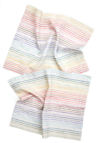 Rainbow Stripe Linen Placemat Set - LEIF