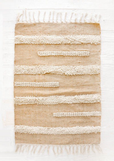 Raised Stripe Jute Rug in  - LEIF
