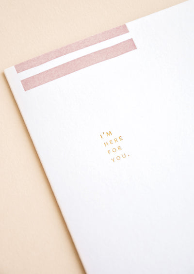 Geometric I'm Here For You Card hover