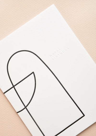 Modern Outlines Birthday Card