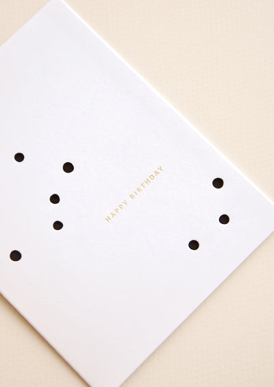 Scattered Dots Birthday Card hover