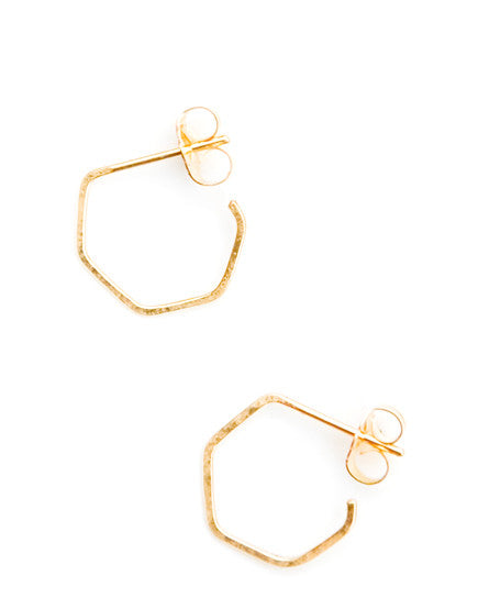 Hex Hoop Earrings - LEIF