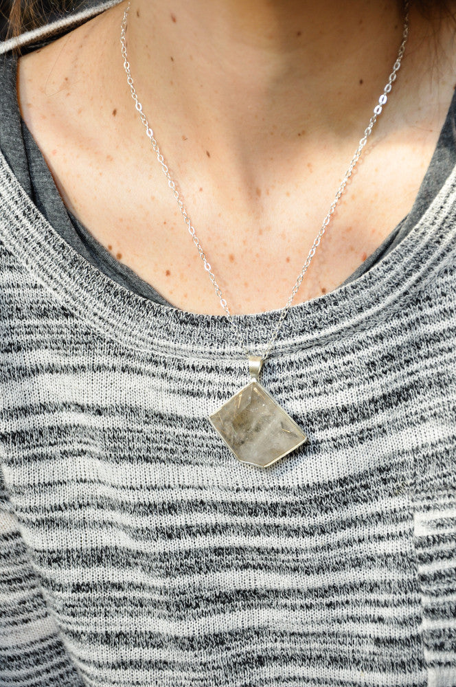Rutilated Quartz Facet Necklace - LEIF