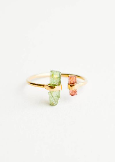 Raw Tourmaline Crystal Ring