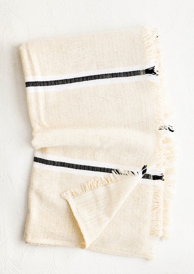 Olympia Raw Cotton Throw