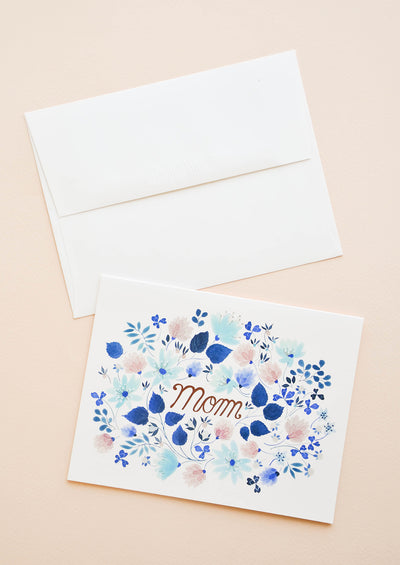 Floral Frame Mom Card