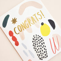 Painted Shapes Congrats Card