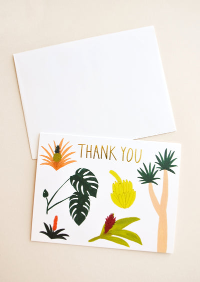 Tropical Botany Thank You Card in  - LEIF