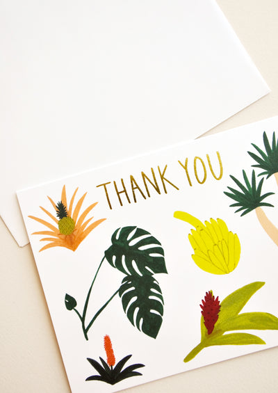 Tropical Botany Thank You Card hover