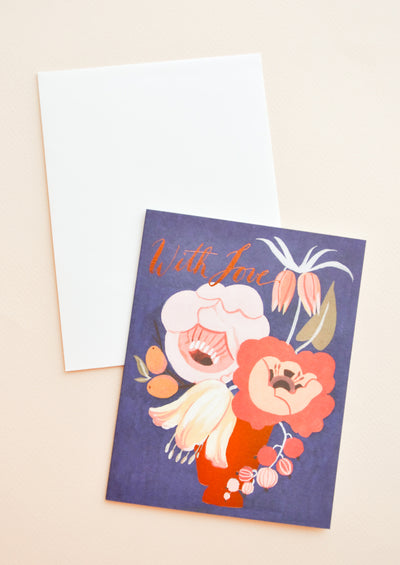 With Love Flower Arrangement Card