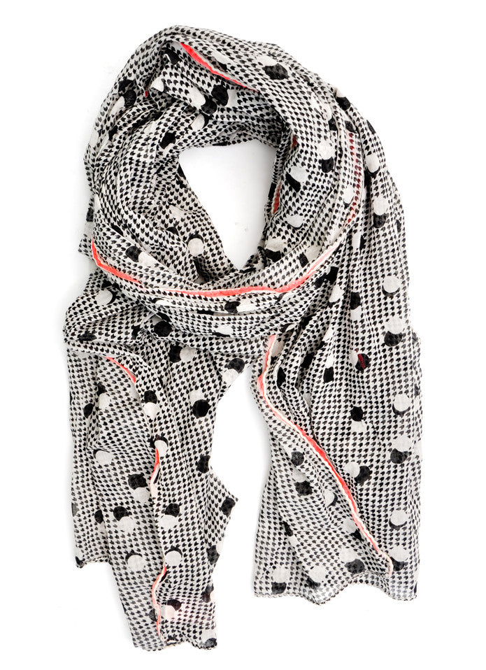 Retro Dot Cotton Scarf - LEIF