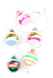 Retro Stripe Glass Ornament Set - LEIF