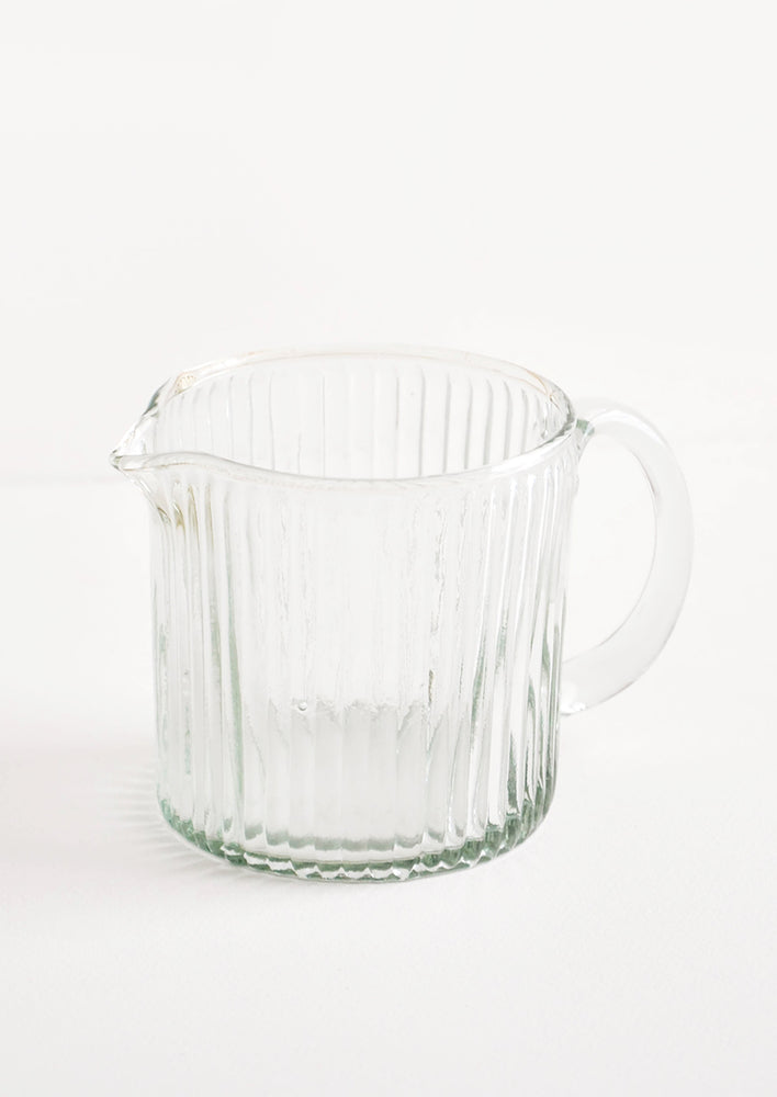 1: Ribbed Recycled Glass Pitcher in  - LEIF