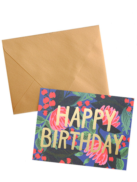 Birthday Floral Foil Card Set - LEIF