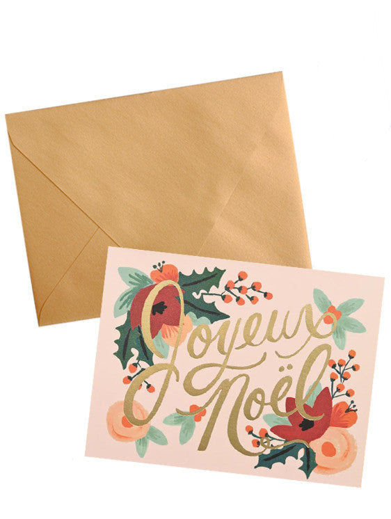 Joyeux Noel Holiday Card Set - LEIF