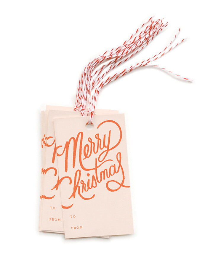 Merry Christmas Gift Tags - LEIF