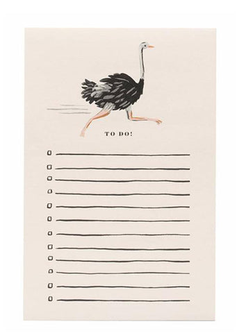 Ostrich To Do List Notepad