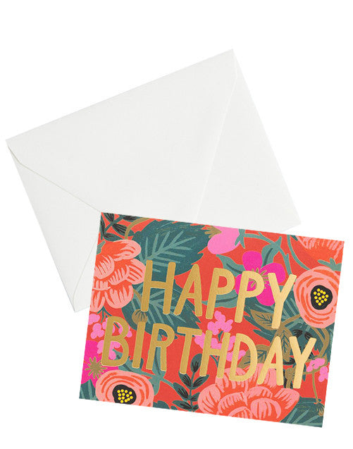 Poppy Floral Birthday Card - LEIF