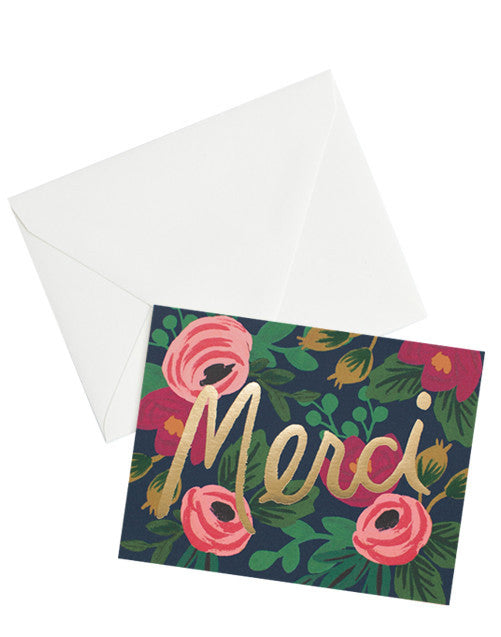 Rosa Merci Thank You Card Set - LEIF