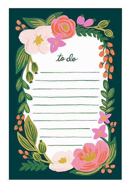 Rosalie To-Do List Notepad