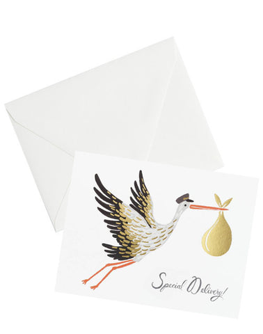 Special Delivery Stork Card - LEIF