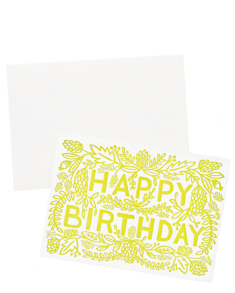 1: Trailing Blooms Birthday Card in  - LEIF