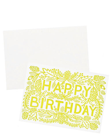 Trailing Blooms Birthday Card