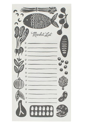 Woodblock Market Notepad - LEIF