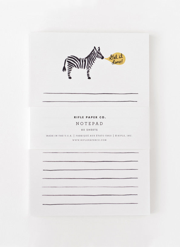 Get It Done Zebra Notepad