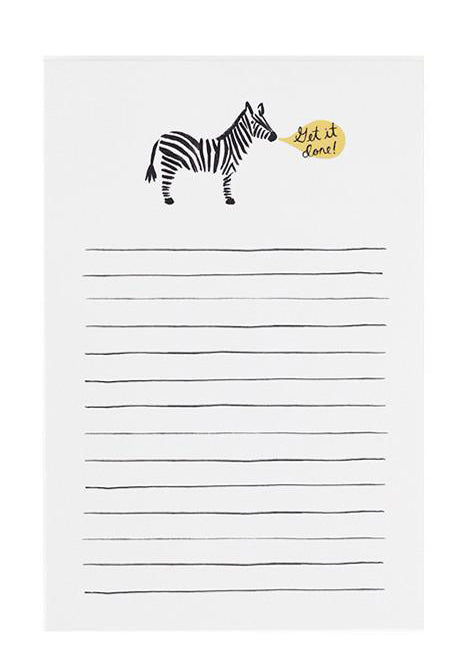 Get It Done Zebra Notepad in  - LEIF