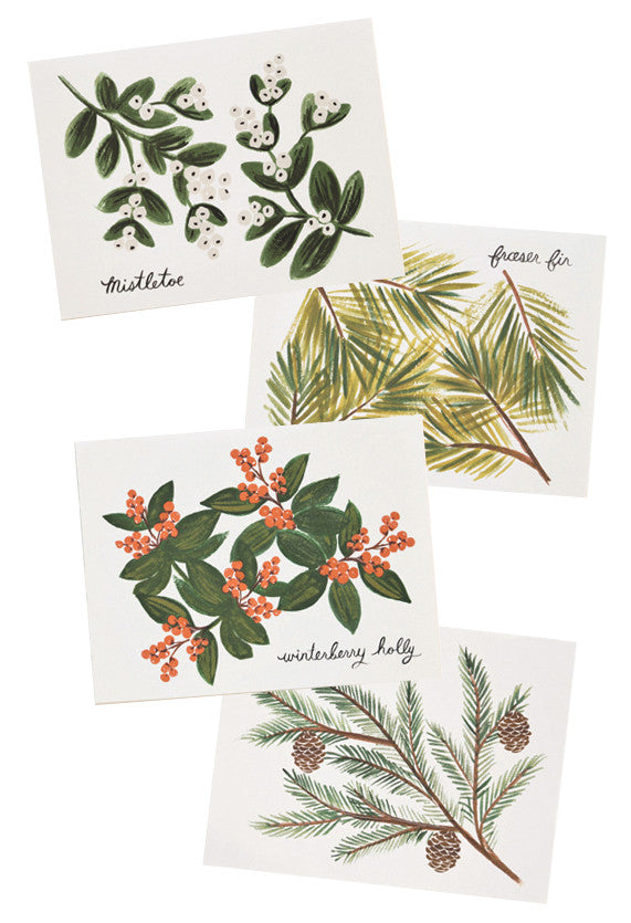 Winter Foliage Card Set - LEIF
