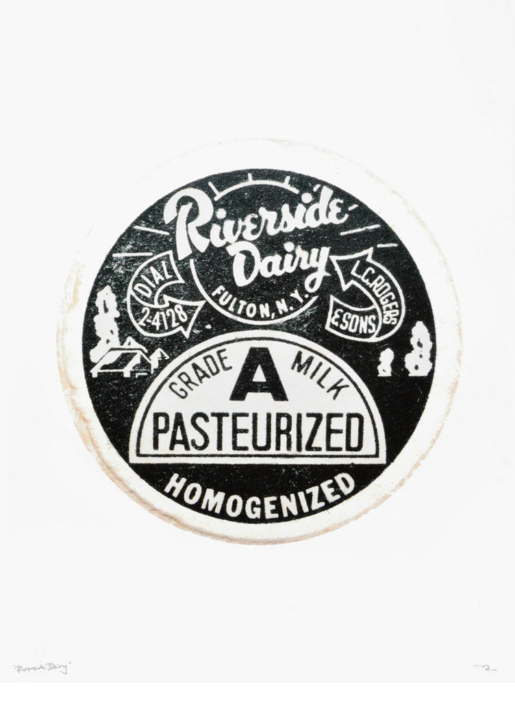 Riverside Dairy Bottle Cap Print