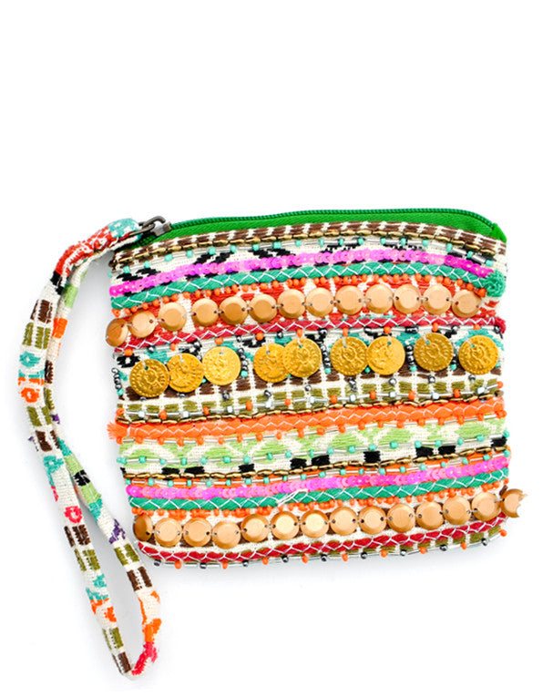 Riviera Embellished Mini Pouch