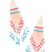 Peach Multi: Rockaway Earrings in Peach Multi - LEIF