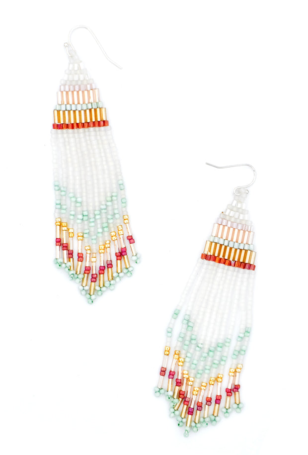 White Multi: Rockaway Earrings in White Multi - LEIF