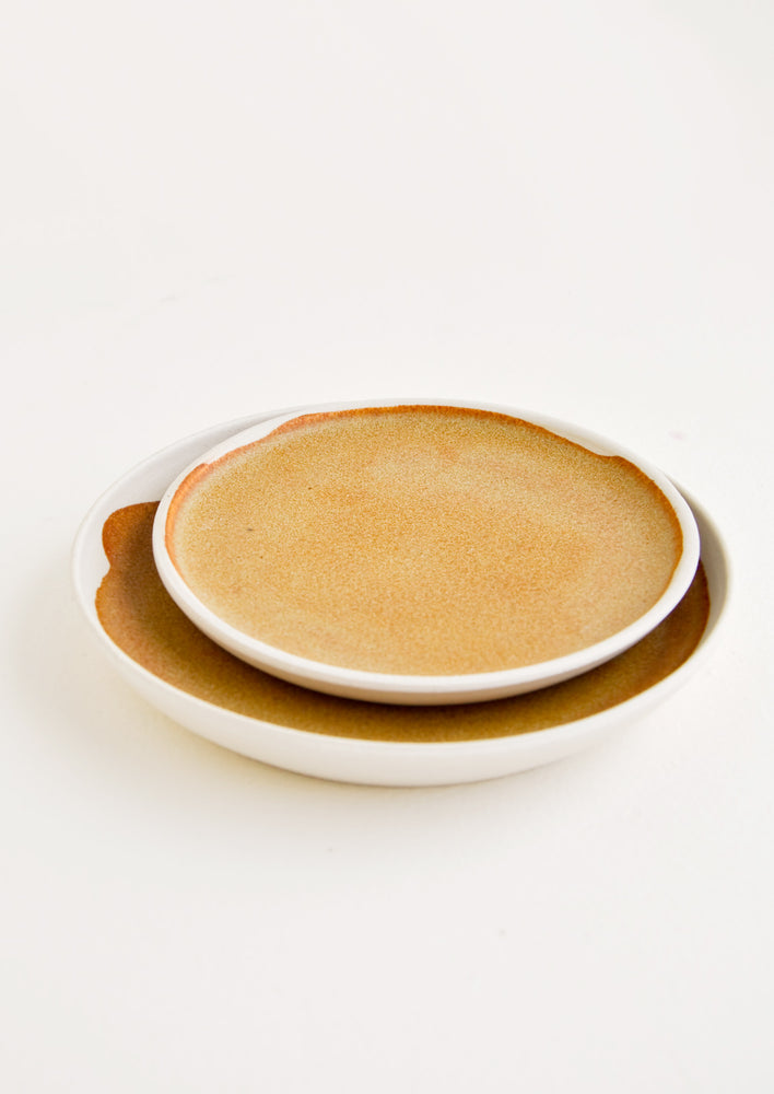 Mini / Buckwheat: Nougat Ceramic Dish in Mini / Buckwheat - LEIF