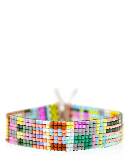 Thin Beaded Bracelet in Galapagos