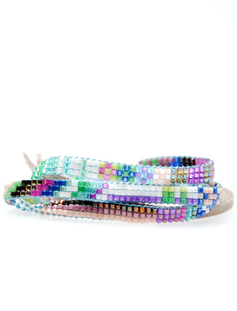 Beaded Wrap Bracelet in Hana - LEIF
