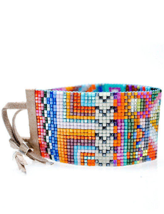 Wide Beaded Bracelet in Havana - LEIF