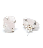 Raw Rose Quartz Earrings - LEIF