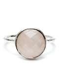 Rose Quartz Facet Ring - LEIF