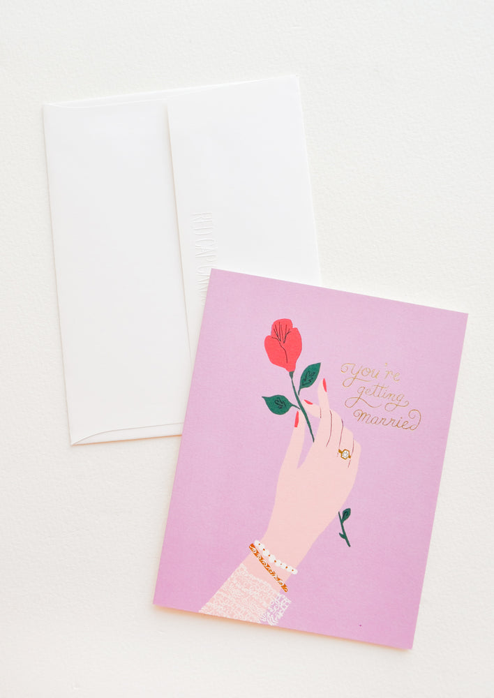 1: Roses & Rings Engagement Card in  - LEIF