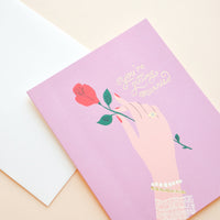 2: Roses & Rings Engagement Card in  - LEIF
