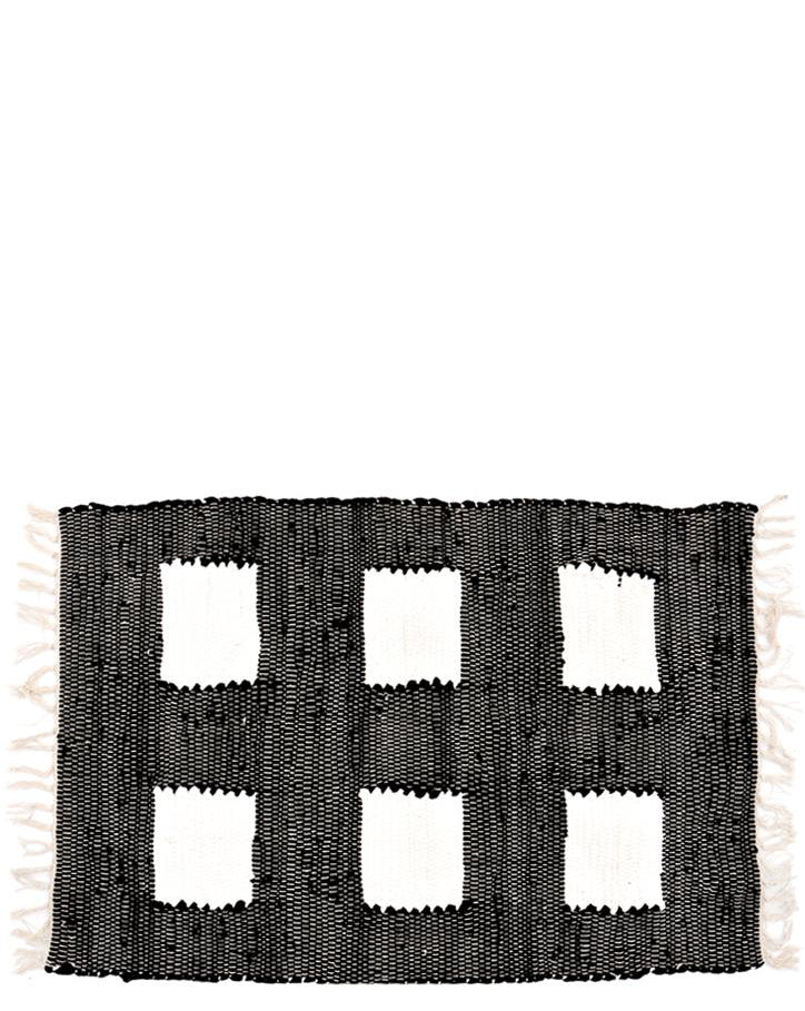 Black: Row House Floor Mat in Black - LEIF
