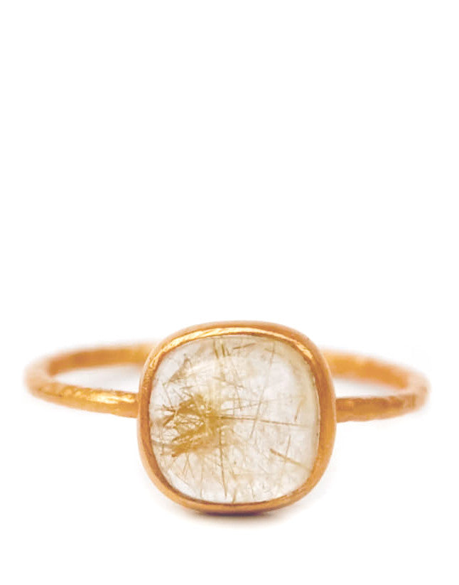 Rutilated Quartz Ring - LEIF