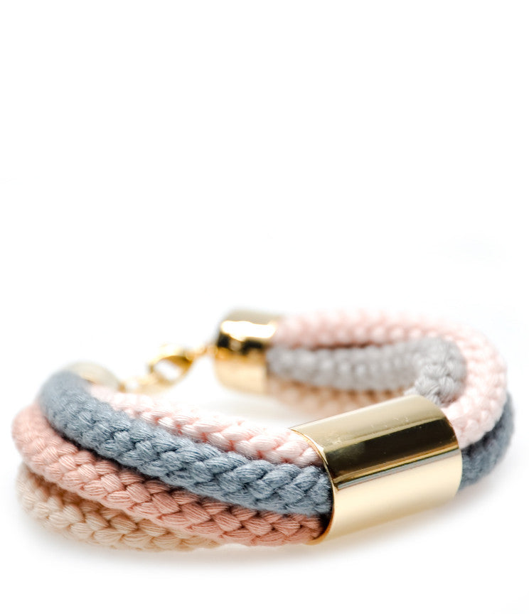 Color Cord Bracelet in Pale - LEIF