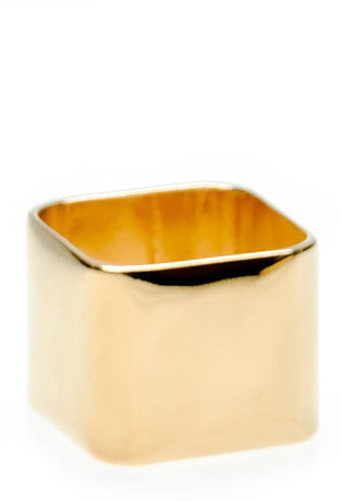 Wide Blank Square Ring - LEIF
