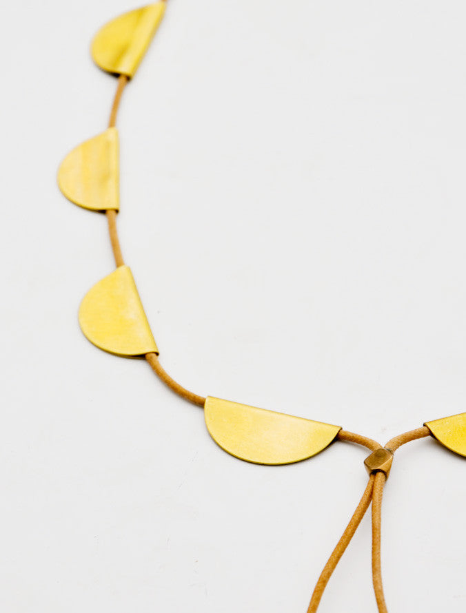 Scalloped Bolo Necklace - LEIF