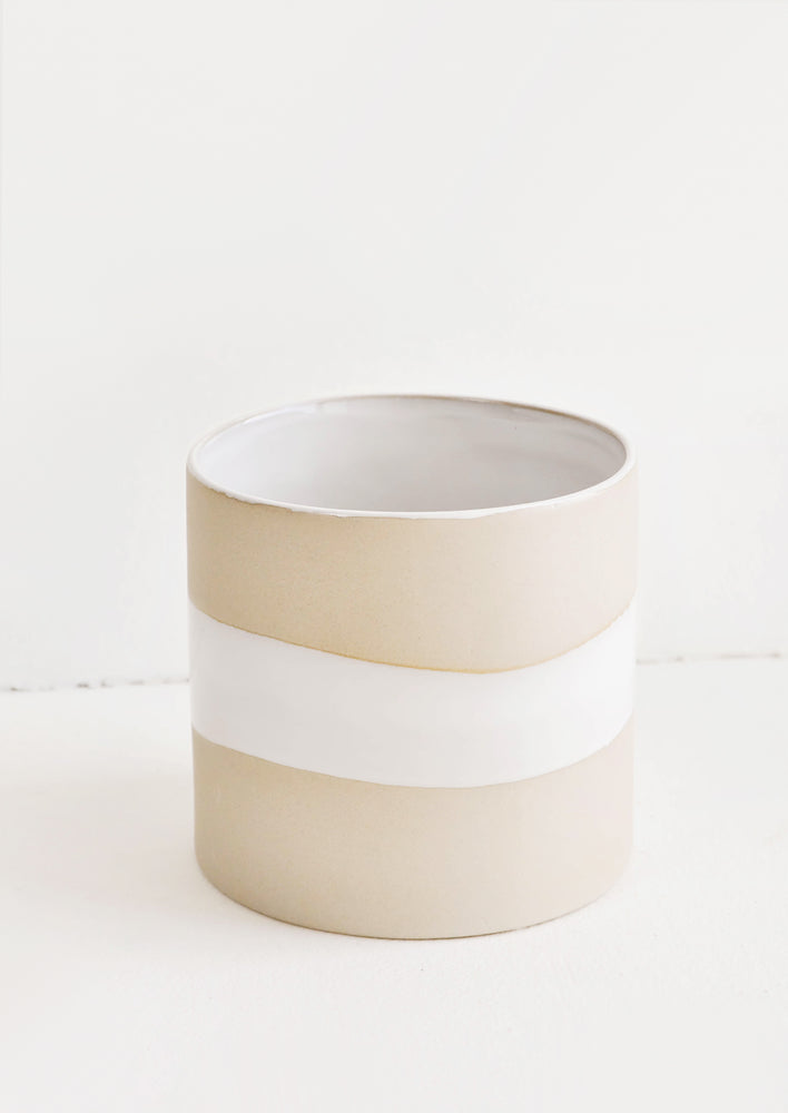 1: Sandbar Ceramic Planter in  - LEIF
